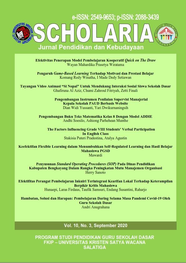 Hambatan Solusi Dan Harapan Pembelajaran Daring Selama Masa Pandemi Covid 19 Oleh Guru Sekolah Dasar Scholaria Jurnal Pendidikan Dan Kebudayaan